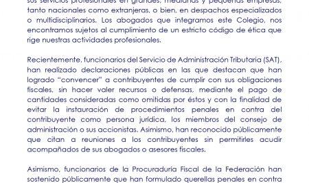 Comunicado ANADE Estado de Derecho y Contribuyentes
