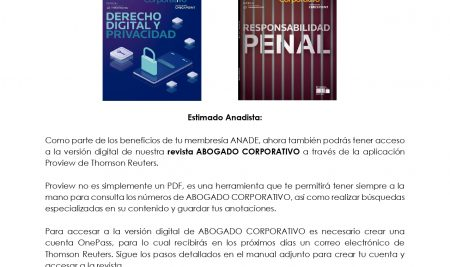 Lanzamiento versión digital de la Revista Abogado Corporativo