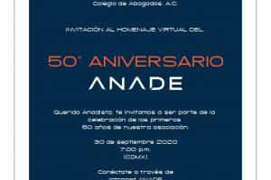 Invitación_Homenaje_50_Años_ANADE_Anadistas