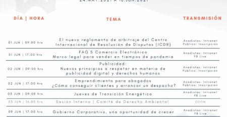CALENDARIO DE SESIONES REMOTAS I ANADE-2